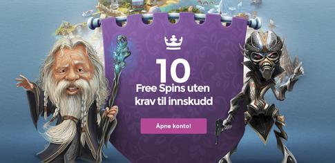 10 freespins Casinosaga