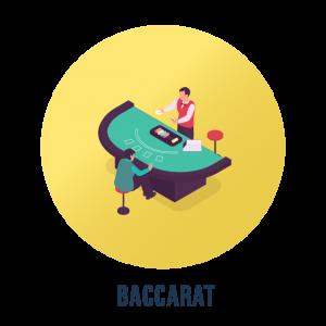 Baccarat på casino