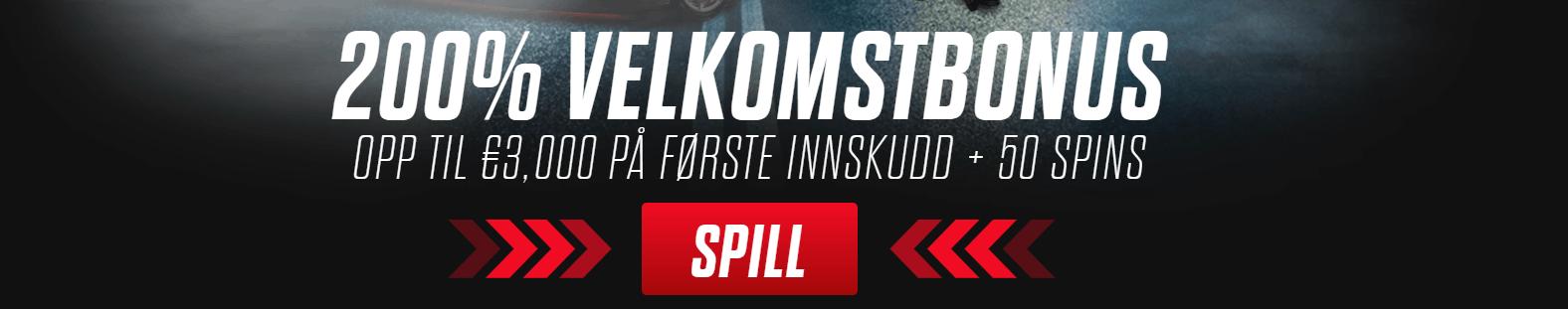 Spin Rider Casino Norge bonus