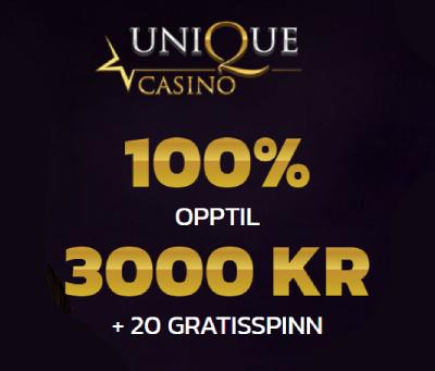 Unique Casino Norge bonus