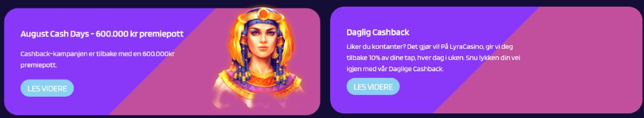 Lyra Casino Norge kampanjer