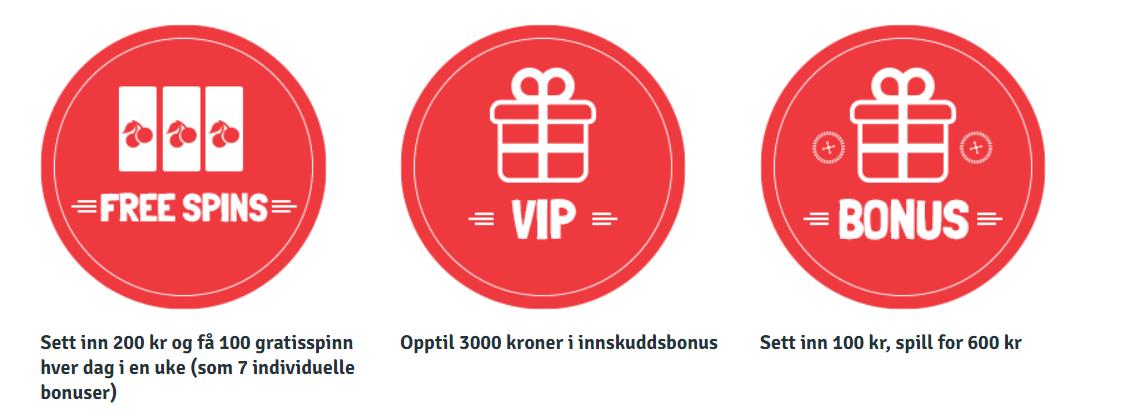 Bingo.com casino Norge bonus