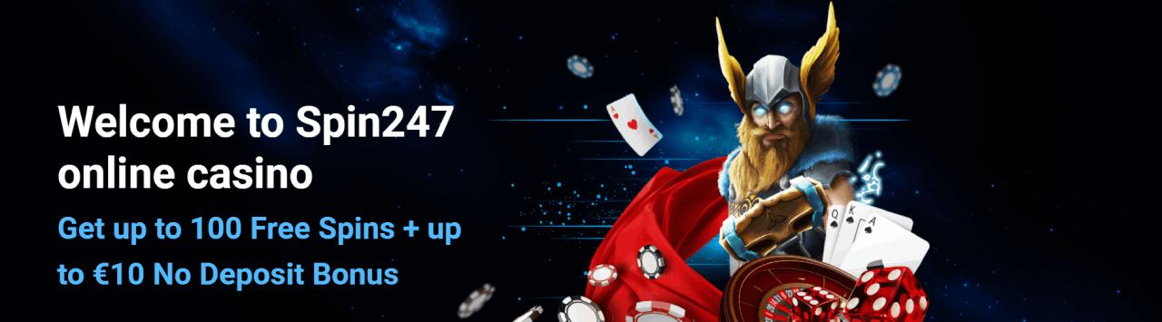 Spin247 Casino Norge bonus