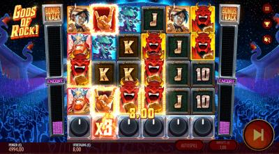 Gods of Rock – Thunderkick spilleautomat
