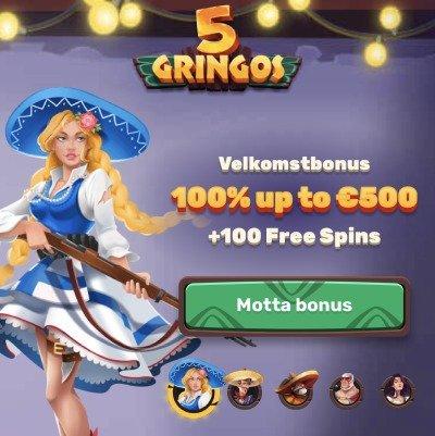 5 gringos velkomstbonus