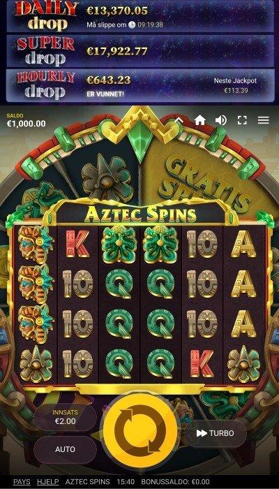 Aztec Spins symboler og animasjoner