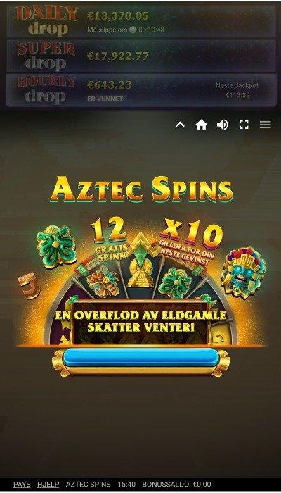 Aztec Spins tema og design