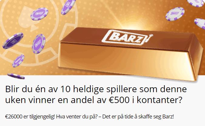 Barz casino norge kampanje