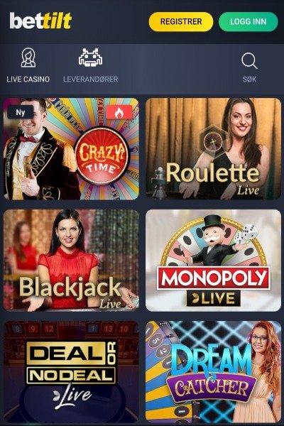 Bettilt casino live casino