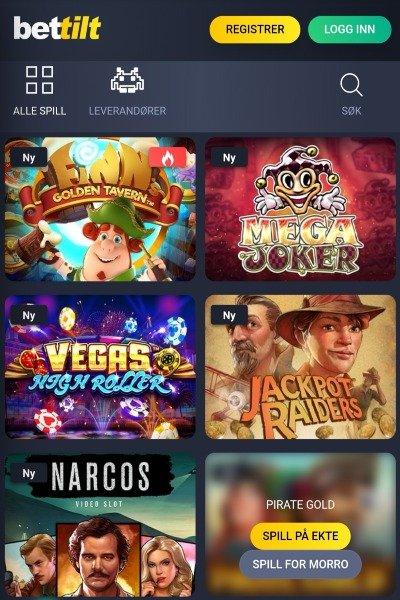Bettilt casino spill