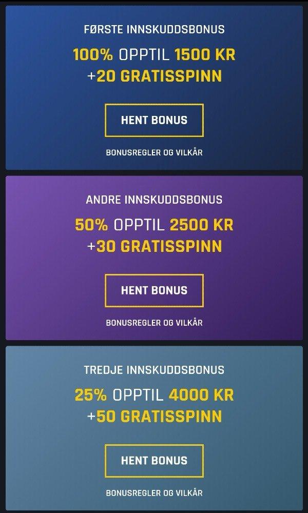 Casino Universe andrje kampanjer