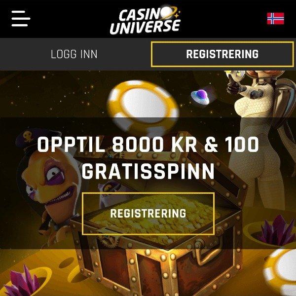 Casino Universe velkomstbonus
