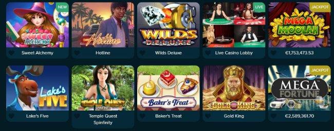 Spilleautomater hos Casinoland