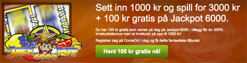 ComeOn Bonus - CasinoSpes
