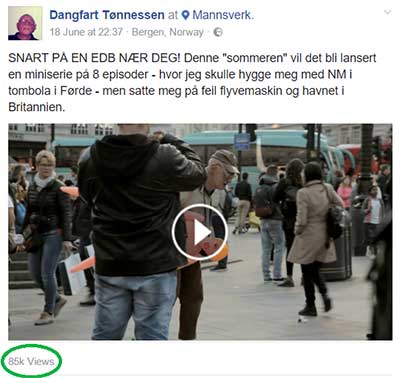 Dangfart Tønnesen i London VideoSlots
