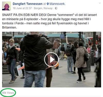 Dangfart Tønnesen i London VideoSlots