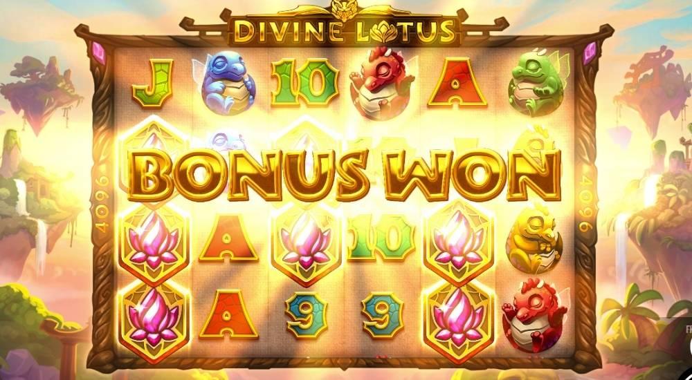 Divine Lotus Bonusspill og gratisspinn