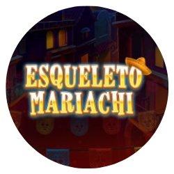 Esqueleto Mariachi- rundt bilde.