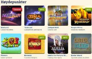 Folkeautomaten har et stort utvalg av spill.