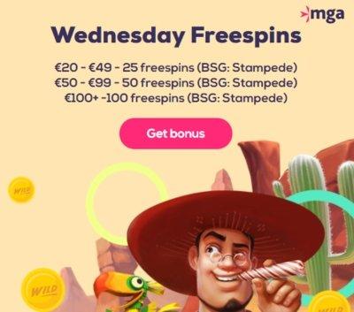 Freespins hver onsdag