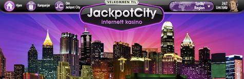 Jackpot City forside