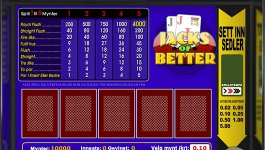 Jacks or Better Betsoft
