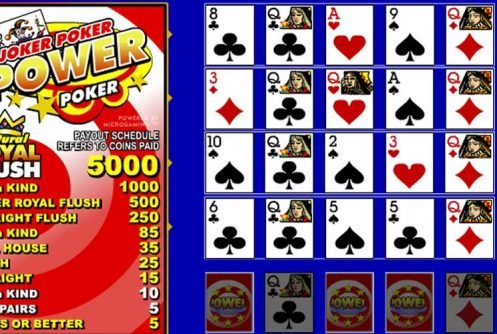 Joker Poker Power Poker videopoker