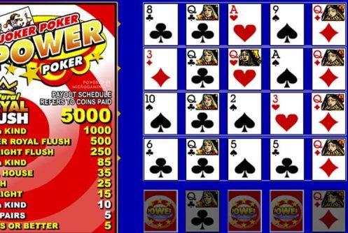 Joker Poker Power Poker videopoker