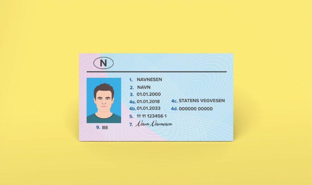 KYC eksempel ID-kort