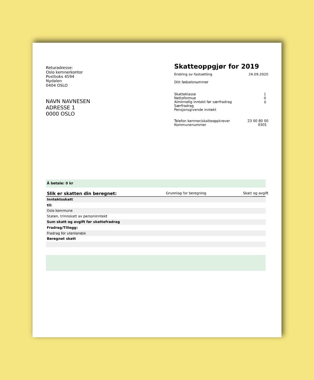 KYC eksempel adressebevis
