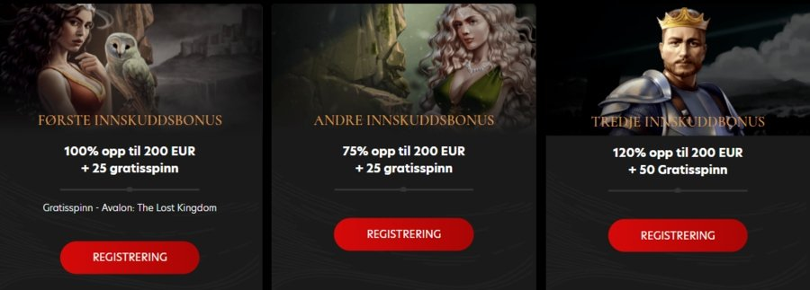 Kingdom Casino velkomstbonus