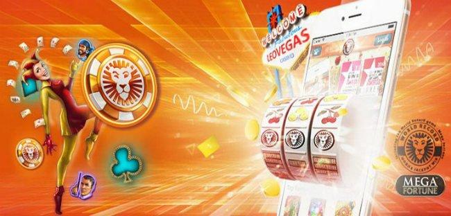 Spill casino hos LeoVegas.
