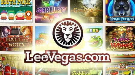 Spilleautomater hos LeoVegas Casino.