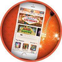 Spill med mobiltelefon hos LeoVegas.