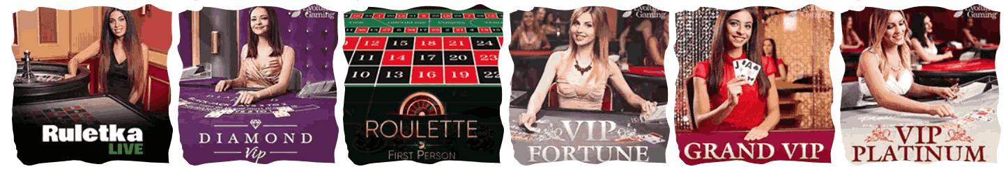 Live casino bord