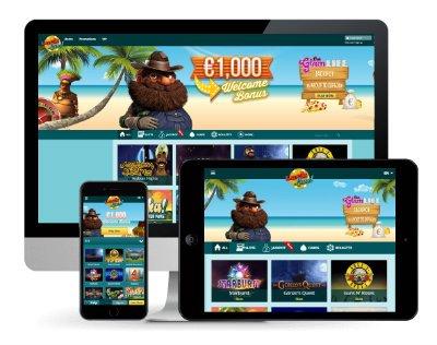 Spill Luckland på mobile enheter.