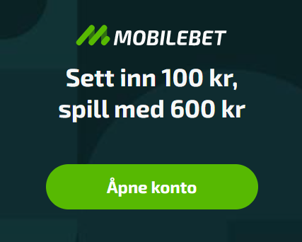 Mobilebet casino Norge bonus