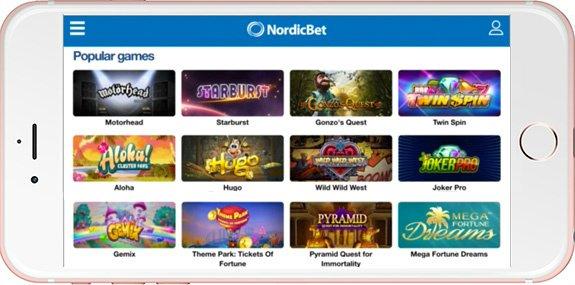 NordicBet tilbyr mange casinospill.