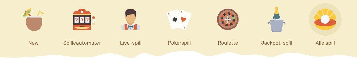 Paradise casino spill
