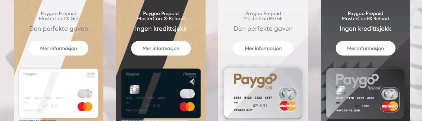 Paygoo Casino Norge kort