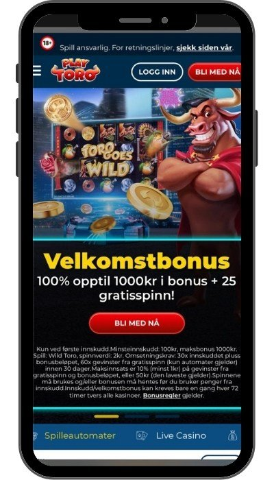 PlayToro Casino velkomstbonus