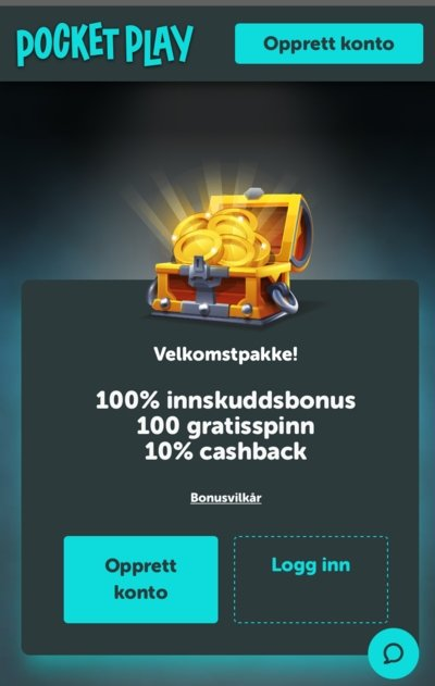 Pocket Play Casino velkomstbonus
