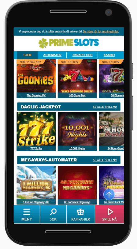 PrimeSlots casino spill
