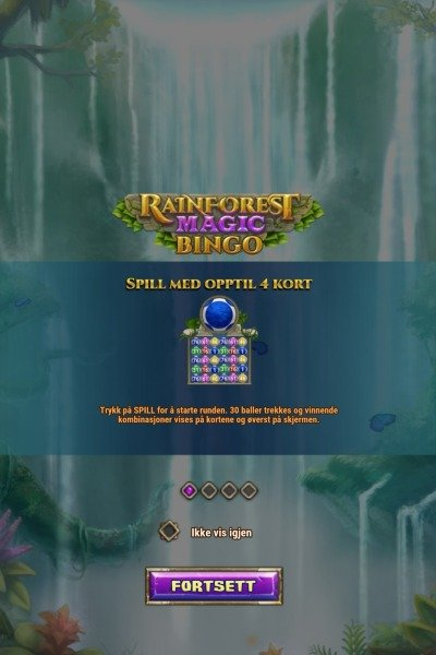 Rainforest magic bingo screenshot 1