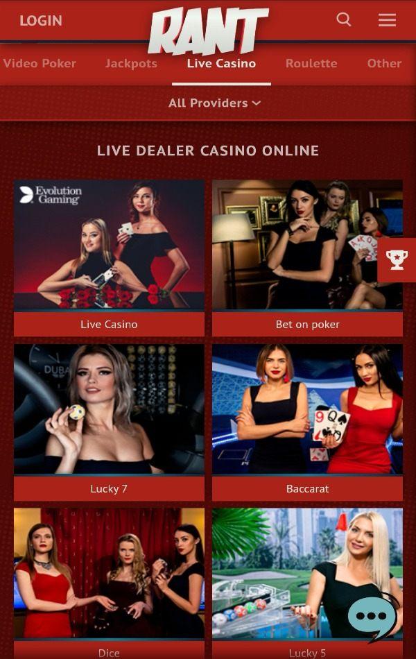Rant casino live casino