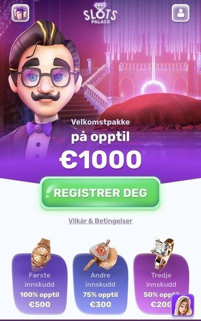 SlotsPalace Casino velkomstbonus