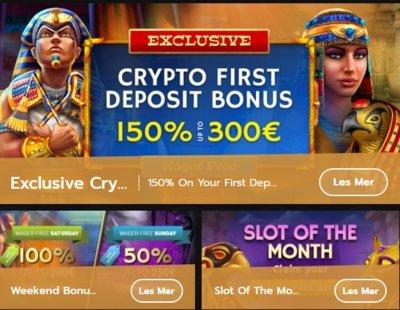 Spesielle kampanjer og casino tilbud