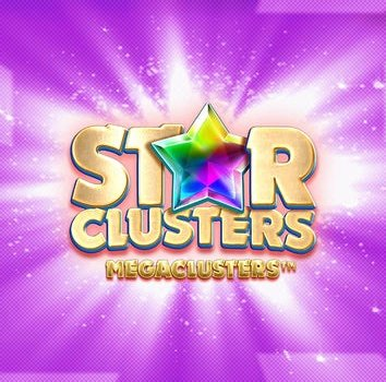 Star clusters slot logo