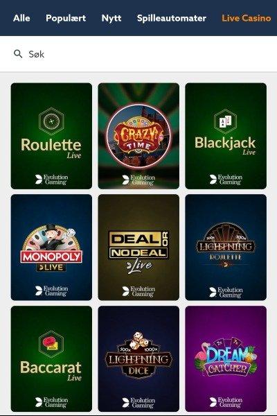 Sticky live casino