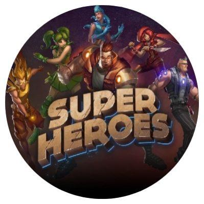 Super Heroes rundt bilde.
